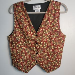 Vintage   Theo   Embroidered and Beaded Vest